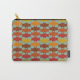 Retro Butterfly Print Carry-All Pouch