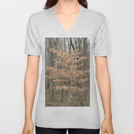 Beautful tree in John Heinz Wildlife Refuge Unisex V-Neck