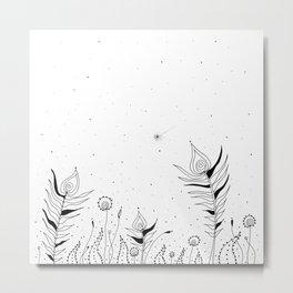 Tribal Flowers Art Illustration Metal Print