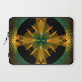 Spinning Wheel Hubcap in Gold Laptop Sleeve