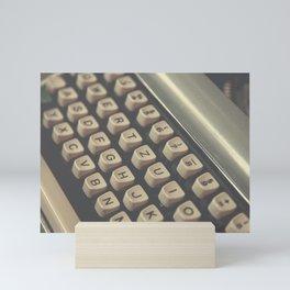 Closeup of vintage typewriter keys Mini Art Print