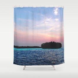 Island in a not-Sun Shower Curtain