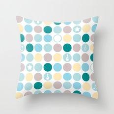 Rock Star Pattern Throw Pillow