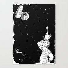 You show the moon, I look at the finger Canvas Print