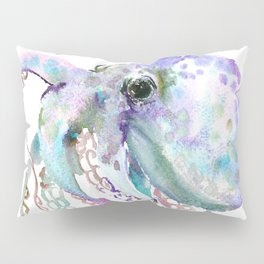 Octopus soft gray violet, turquoise soft colored octopus design beautiful octopus decor Pillow Sham