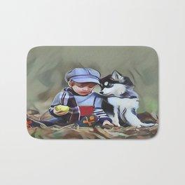 A Boys Best Friend is His Dog Bath Mat