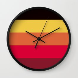 Strong summer colours geometric vertical lines pattern for home decoration Wall Clock