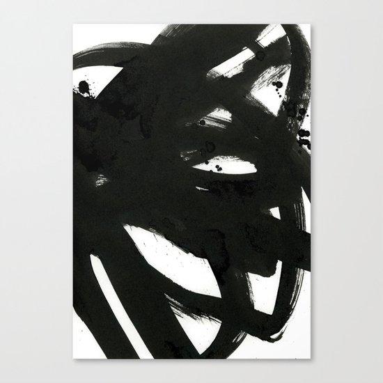 black on white 1 Canvas Print