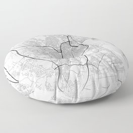 Minimal City Maps - Map Of Providence, Rhode Island, United States Floor Pillow