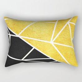 Coal and Gold Rectangular Pillow