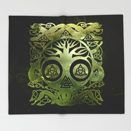 Tree of life - Yggdrasil  and celtic animals Throw Blanket
