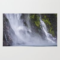waterfall Area & Throw Rugs featuring Waterfall.. by Michelle McConnell