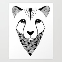 cheetah Art Prints featuring Cheetah by Art & Be