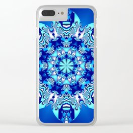 The blue snowflake Clear iPhone Case