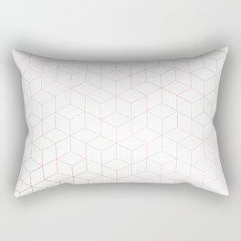 Simply Cubic in Rose Gold Sunset Rectangular Pillow