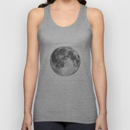 Full Moon phase print black-white monochrome new lunar eclipse poster home bedroom wall decor Unisex Tank Top