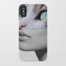 Cat woman iPhone X Slim Case