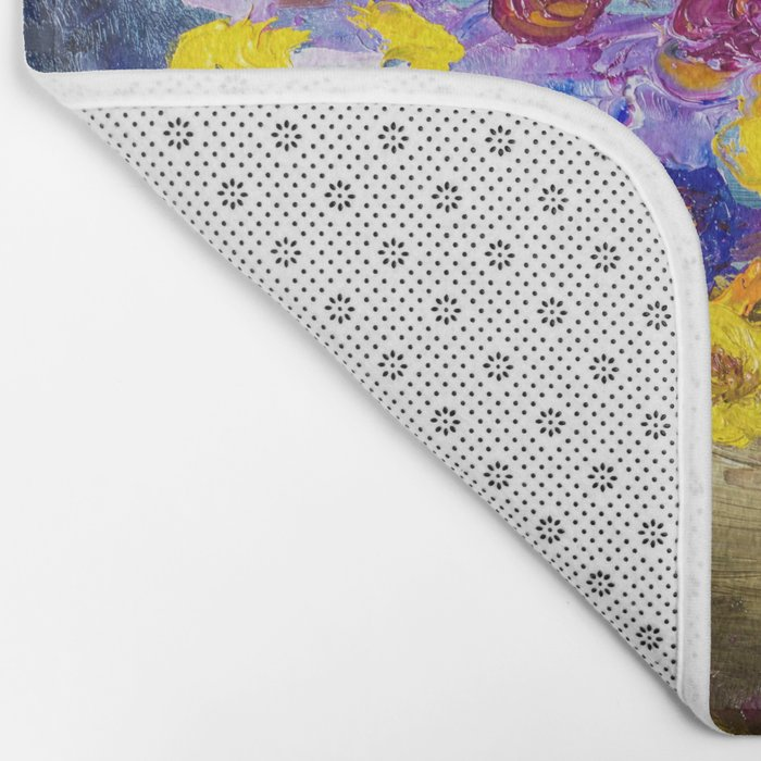 Bouquet of flowers Bath Mat