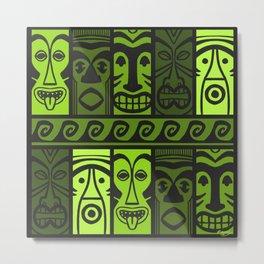 Palm Green Tikis! Metal Print