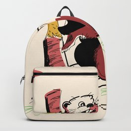Vintage Beaver cartoon Backpack