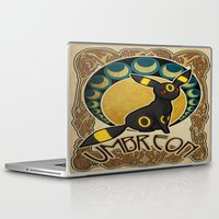 umbreon Laptop & iPad Skins featuring Umbreon by Yamilett Pimentel