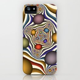 Flying Up, Colorful, Modern, Abstract Fractal Art iPhone Case