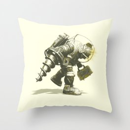 Daddy's Coming Home (Yellow) Throw Pillow