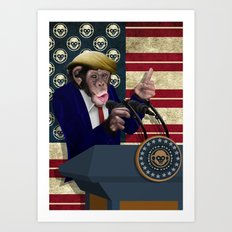 PRESIDENT of THE APES iPhone 4 4s 5 5c 6 7, pillow case, mugs and tshirt Art Print