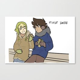 First Date Canvas Print