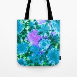 Blue Fun Guy Mushrooms Tote Bag