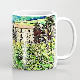 Hortus Conclusus: vineyard and building Coffee Mug