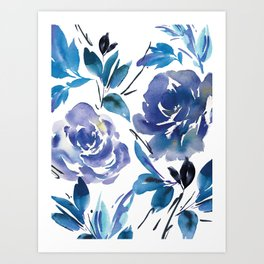 a2d920802ab4 Royal Blue Garden 01 Art Print