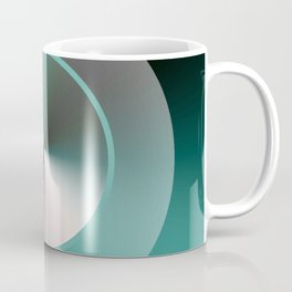 Serene Simple Hub Cap in Aqua Coffee Mug