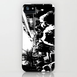 ALL ABOARD! Waiting to get on the Train! iPhone Case