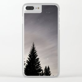 Trees by Night Clear iPhone Case