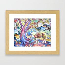 Technicolor Bella Framed Art Print