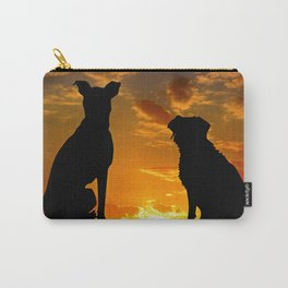 TWO DOGS AT SUNSET Carry-All Pouch