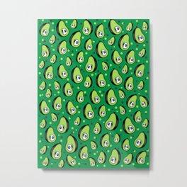 Eyevocado Eye Avocado Cute Fruit Pattern Metal Print