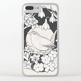 Spring Wren Clear iPhone Case
