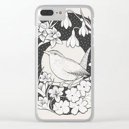 Spring Wren Clear iPhone Case