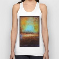 swimming Tank Tops featuring Swimming by Liz Moran