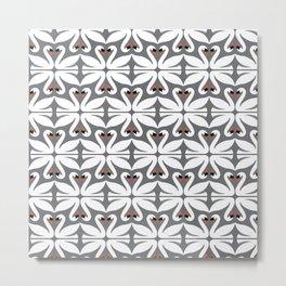 swans pattern Metal Print