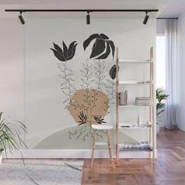 Natural Line Art - Plant Roots Wall Mural