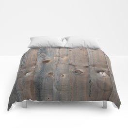 Brown Wooden Fence Comforters