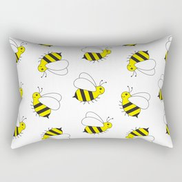 Bumble Bee Pattern Rectangular Pillow
