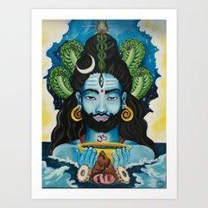 Shiva Awakens Art Print