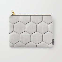 White Hex Carry-All Pouch