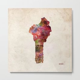 Benin map Metal Print