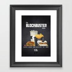 Blockbuster menu Framed Art Print