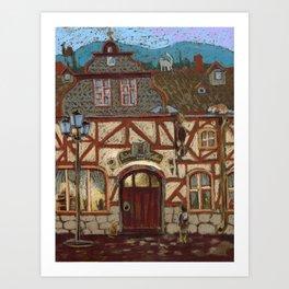 Kirshberg. Illustration to a story. Art Print